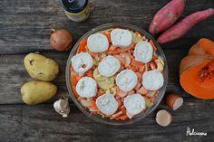 Bonjour !Aujourd'hui j'ai envie de vous partager une recette que tout le monde a adoré et en plus un plat de saison, quoi demander de plus? Un gratin légumes de saison et chèvre végétarien http://www.helcuisine.fr/2016/11/gratin-aux-couleurs-de-lautomne.html Et vous, allez vous tester et adorer?