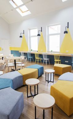 Coworking The Sun is a Comfortable Open Space for Work, Rest and Communication Cool Office Space, Office Space Design, Workspace Design, Working Space Design, Tiny Office, Front Office, Office Spaces, Work Spaces, Interior Design Photos