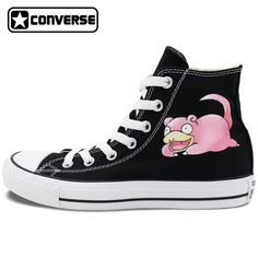b4d6b041b4da58 Design Pokemon Slowpoke Hand Painted Converse Shoes Men Women Canvas  Sneakers Brand All Star Anime Shoes Birthday Gifts