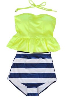 Women's Retro Vintage High Waisted Tankini Skirt Bikini Swimsuit Bath Suit Welity http://www.amazon.com/dp/B00KK9WGLC/ref=cm_sw_r_pi_dp_MgDUtb1KENAQBMVY