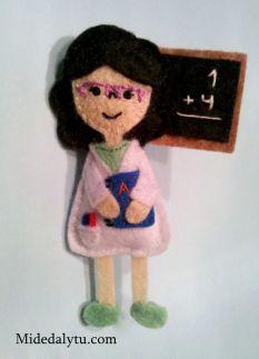 Broche de profesora / teacher brooch