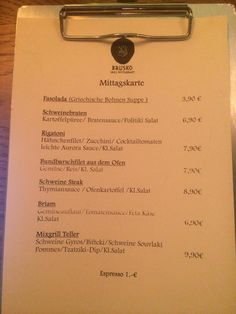 Mittagsmenu Brusko Grill Restaurant www.brusko.de #brusko #muenchen #schwabing #lunch #mittagsmenu #griechischesrestaurant #restaurant #bar