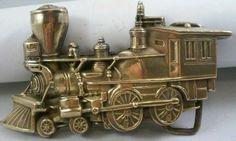 1978 VINTAGE SOLID BRASS TRAIN BELT BUCKLE #BARONBUCKLES #Casual