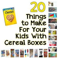 """20 Things to Do With Your Empty Cereal Boxes (Your Toddler Will LOVE These!) - I saw this and had to pin. So cute. I am in love with the """"post"""" box for mail for your child. Must do that."""