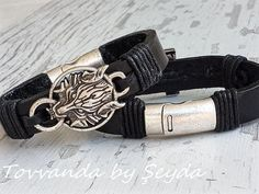 Hey, I found this really awesome Etsy listing at https://www.etsy.com/listing/471337872/men-leather-bracelet-heavy-viking-wolf