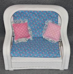 Barbie Rattan de Luxe Möbel Wohnzimmer Couch Sessel 80er 90er Jahre Dream House