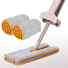 Double Sided Mop Non Hand Washing Dust Push Mop Cloth Home Clean Accessories New #Unbranded