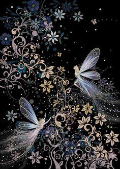 Bug Art m094 fairyland greetings card