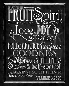But the fruit of the Spirit is love, joy, peace, forbearance, kindness, goodness, faithfulness, gentleness, and self-control. Against such things there is no law. - Galatians 5:22-23