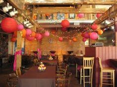 orange aqua wedding decorations - Google Search