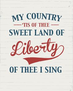 My Country Tis of Thee...sweet land of liberty ~ not to be taken for granted.. #grateful