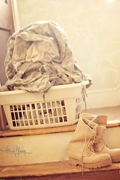 the never ending laundry pile of dirty pt's and acu's!! This is what my laundry baskets always look like :P
