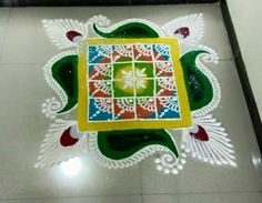 Easy Rangoli Designs Videos, Rangoli Designs Latest, Simple Rangoli Designs Images, Latest Rangoli, Rangoli Designs Flower, Rangoli Designs Diwali, Rangoli Designs With Dots, Diwali Rangoli, Flower Rangoli