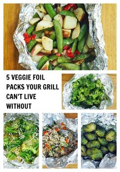 5 Veggie Foil Packs Your Grill Can't Live Without! #greengiant