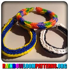 Rainbow Loom Bracelets - Double Cross Fishtail Bracelet