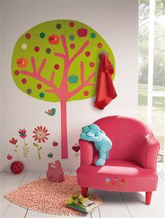 Pegatinas-colgadores 'árbol' habitación niña VERT POMME