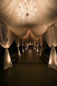 Tented Entryway Photography: Callaway Gable Read More: http://www.insideweddings.com/weddings/sunset-ceremony-neutral-toned-ballroom-reception-in-beverly-hills/578/