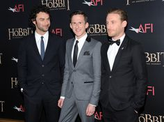 Aidan Turner (Kili), Adam Brown (Ori) and Dean O'Gorman (Fili)