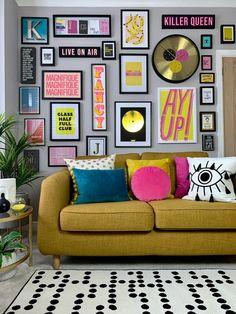 Design Living Room, Home Living Room, Living Room Decor, Bedroom Decor, Colourful Living Room, Home And Deco, Home Decor Inspiration, Decor Ideas, Decoration