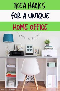 Combine IKEA products and come up with something unique for your home office. Here are 20 IKEA hacks!