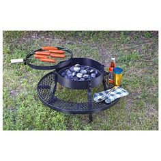 Texas BBQ Charcoal Pit Grill | Take the show on the road for camping, hunting, picnics and  get-togethers