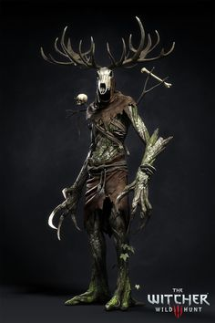 ArtStation - The Witcher III - Leshen, Marcin Blaszczak The Witcher Wild Hunt, The Witcher 3, Fantasy Monster, Monster Art, Dark Fantasy, Fantasy Art, Witcher Monsters, Dungeons And Dragons, Witcher Tattoo
