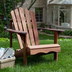 Ergonomic Outdoor Patio Adirondack Chair In Red Shorea Wood