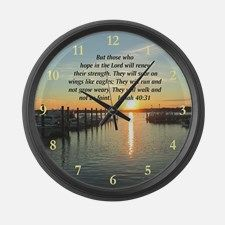 ISAIAH 40:31 Large Wall Clock Enjoy our beautiful and inspiring selection of scripture home goods. Take 20% Off* Your Order Use Code: ROSE20  www.cafepress.com/heavenlyblessings #Christiandecor  #Scripturedecor #Scripturegifts #Bibleversegifts #JesusChrist #Bornagain