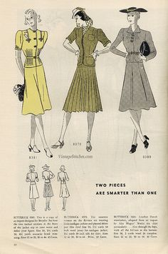 May 1939 Butterick Fashion News | VintageStitches.com