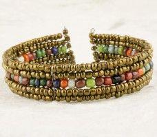 Atmosphere Beads V Wire Cuff - City Buddha - $3.50