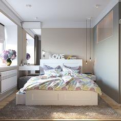 Скандинавский стиль - спальня. Спальня