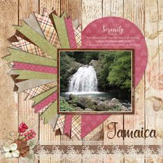 BooLand Designs - Sweet Serenity 1 - Scrapbook.com #scrapbooklayouts