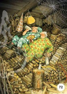 Old People Love, Illustrations, Illustration Art, Art Pictures, Art Images, Christmas Illustration, Funny Art, Getting Old, Old Women