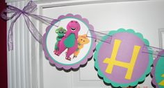 Barney and Friends Happy Birthday Banner
