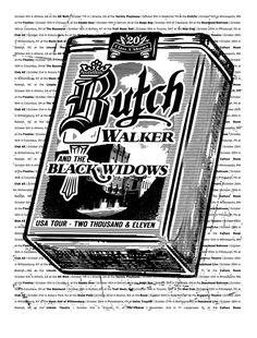 JP Flexner - Butch Walker Poster- Autographed copy hanging in my living room