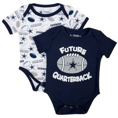 NFL Dallas Cowboys Andy Bodysuit Set of 2 for baby at shop.dallascowboys.com.