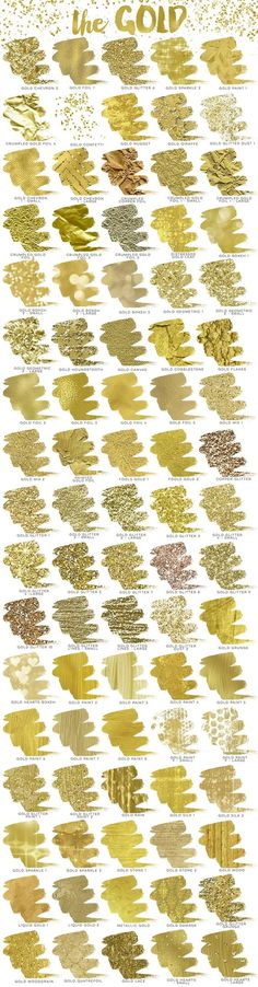 Gold Rush Creative Kit – 170 Photoshop Styles #glitter #goldfoil #confetti