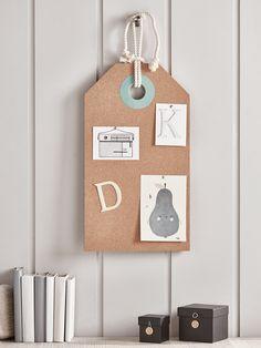 Tag Memo Board - Blue & Green - Kids - Decorative Home - Indoor Living Boy Toddler Bedroom, Childrens Bedroom Decor, Kids Bedroom Furniture, Homeware Uk, Green Gifts, Elegant Homes, Gifts For Kids, Blue Green, Diy Projects