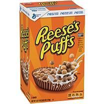 General Mills General Mills Reese's Puffs Cereal, Corn Puffs, 13 oz g) Corn Puffs, Reese's Puffs, Peanut Butter Snacks, Reeses Peanut Butter, Puffs Cereal, Whole Grain Cereals, Biscuits, Cereal Treats, Easter Eggs