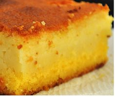 bolo de fuba cremoso | Tortas e bolos > Bolo de Fubá Cremoso | Receitas Gshow Easy Lunches For Work, Make Ahead Lunches, Polenta, Mexican Food Recipes, Dinner Recipes, Portuguese Recipes, Cheesecake, Deserts, Food Porn