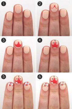 Porque um charminho nas unhas nunca é demais, né? #fofuras #nailart #unhas #diy
