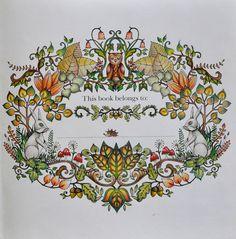 Johanna Basford Enchanted Forest Name Page