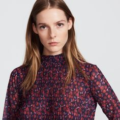 Pleated printed top - Tops & Shirts - Sandro-paris.com