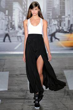 Serious slit. DKNY Spring 2013. #dkny #nyfw