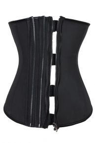 ae8842eebdd Clinch your waist to a size that you ve always wanted and get that  hourglass figure in no time with our Plus Size Black 4 steel Boned 3 Rows  Zipper Latex ...