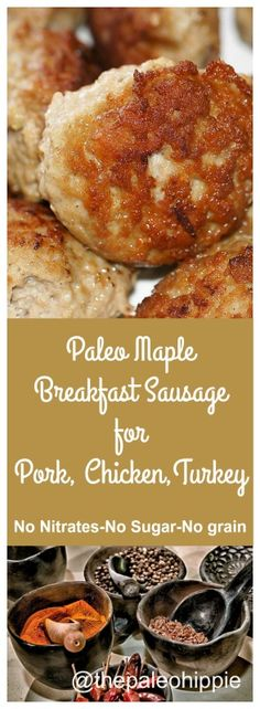Paleo Maple Breakfast Sausage A bit sweet, a bit spicy, a lot delicious!