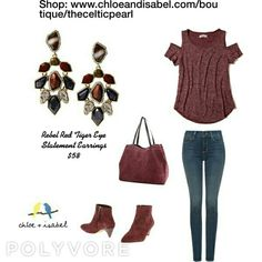 Today's Featured Product Look Rebel Red Tiger Eye Statement Earrings  $58  Shop: https://www.chloeandisabel.com/boutique/thecelticpearl/products/E367/rebel-red-tiger-eye-statement-earrings    #MothersDay #gifts #jewelry #earrings #fashion #accessories #style #shopping #boutique #chloeandisabel #thecelticpearl #trendy #shop #buy
