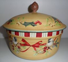 59 best birds lenox winter greetings everyday holiday stoneware by lenox winter greetings everyday stoneware by catherine mcclung covered casserole m4hsunfo