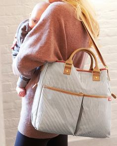 Adorable #grey striped diaper bag http://rstyle.me/n/gac3zr9te
