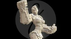 Steampunk girl Sculpture for 75 mm miniature.<br>Renders:<br>https://www.behance.net/gallery/25896957/NANCY-STEELPUNCH-Miniature<br>Miniature:<br>http://www.scale75.com/index.php?route=product%2Fproduct&path=54&product_id=313<br>davidfernandezbarruz.com